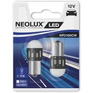 Neolux Voyant de signalisation LED BA15s blanc froid 12 V