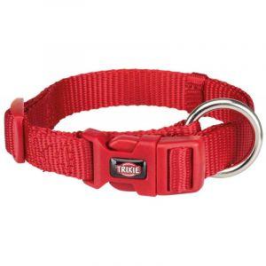 Trixie Collier en nylon rouge Premium Taille M-L Largeur 20 mm Longueur 35/55 cm