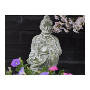 Ubbink Fontaine de jardin Shangai 30x79x48cm - Gris - En béton léger aspect bronze