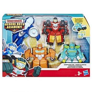 Hasbro Transformers Rescue Bots - Coffret de 4 Robots Secouristes 12cm - Jouet transformable 2 en 1