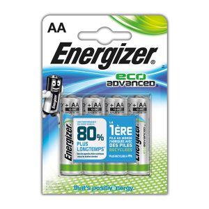 Image de Energizer 4 piles LR6 AA EcoAdvanced