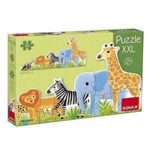Goula Puzzle XXL : Les animaux de la jungle