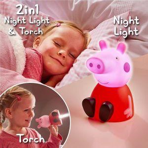 Worlds Apart Peppa Pig-Veilleuse et lampe torche GoGlow Buddy