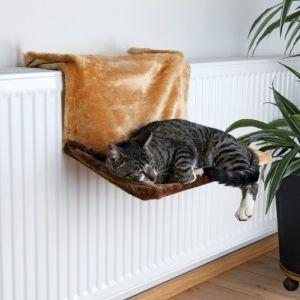 Trixie Hamac de radiateur de luxe en peluche