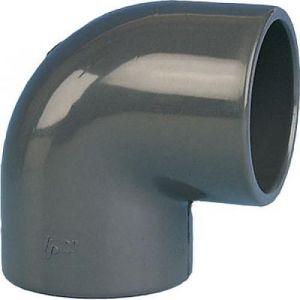Codital Coude PVC pression 90° femelle / femelle à coller Ø 63 BRICOZOR