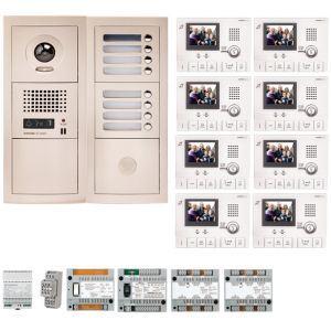 Aiphone GTV8E - Pack vidéo 8 BP avec 8 moniteurs GT1CL préprogrammés (200317)