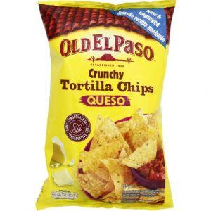 Old el paso Crunchy Tortilla Chips Queso - Le sachet de 185g