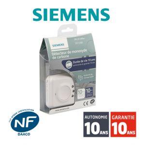 Siemens Détecteur de monoxyde de carbone (CO) NF Delta Reflex 5TC1260 Autonomie 10 ans Garantie 10 ans