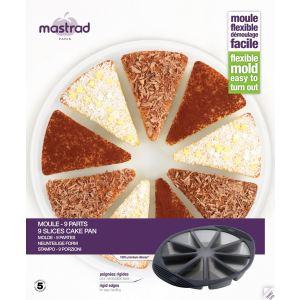 Mastrad F40314 - Moule à gâteau 9 parts