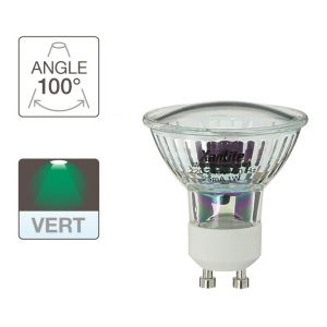 Xanlite MG18V Ampoule LED 1,2 W GU10 Transparent/Vert