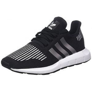 Adidas Swift Run J, Chaussures de Fitness Mixte Enfant, Noir (Negbas/Plamet/Ftwbla 000), 37 1/3 EU