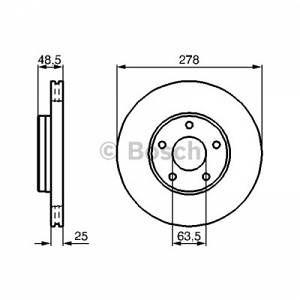 Bosch 2 Disques de frein 0986479173