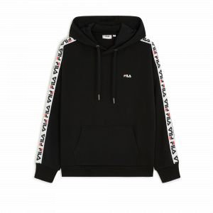 FILA Sweat-shirt David Tape Hoodie Noir - Taille 36,EU S,EU M,EU L,EU XL,EU XS