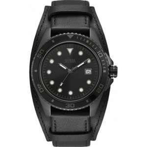Guess W1051G - Montre pour homme avec bracelet en cuir