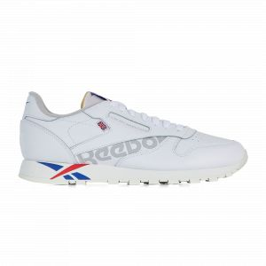 Reebok Cl Leather Logo Blanc/gris 44 Homme