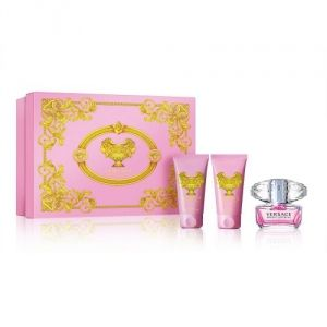 Versace Bright Crystal - Coffret eau de toilette, gel douche et lotion parfumée pour le corps