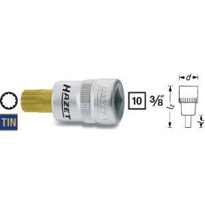 """Hazet 8808-6 - Douille mâle à denture multiple 10 mm (3/8"""") XZN M6 Longueur 40 mm"""