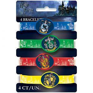 Unique Party 4 Bracelets élastiques Harry Potter Taille Unique
