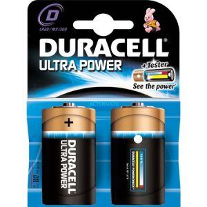 Duracell 2 piles alcalines LR20 Ultra Power