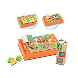 Smoby Jouet à empiler: Cubes cotoons animaux
