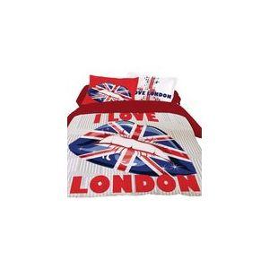 Dourev London Lips - Housse de couette et 2 taies 100% coton (220 x 240 cm)