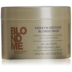 Schwarzkopf Blond Me - Masque rénovateur à la Kératine pour cheveux blonds 200 ml