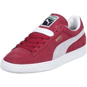 Puma Suede Classic+ - Baskets mode - Mixte Adulte - Rouge (Red/White 05) - 44 EU
