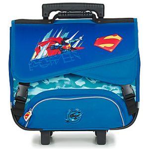 Kid'abord Cartable Dessins Animés JUSTICE LEAGUE SUPERMAN TROLLEY CARTABLE 41 CM bleu - Taille Unique