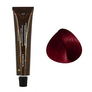 Kin Cosmetics Coloration permanente sans ammoniaque aux 5 huiles 5.67 : Châtain Clair Rouge Violet Sans ammoniaque, Crème 60ml
