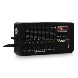 Beamz DMX-512 - Mini contrôleur lumière DMX avec écran LCD 30 programmes, batterie 8 heures, 512 canaux