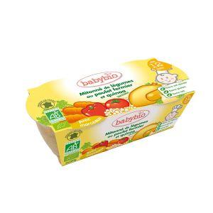 BabyBio Menu du Jour : Mitonné de légumes au poulet fermier et quinoa 2 x 200g - dès 12 mois