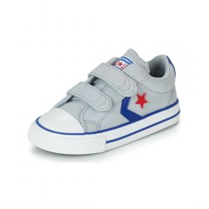 Converse Baskets basses enfant STAR PLAYER 2V CANVAS OX Gris - Taille 20,21,22,23,25,26