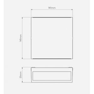 Astro Applique murale Elis double LED pour extérieur - IP54 - Blanc