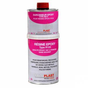 Soloplast Résine R123 époxy 1kg avec catalyseur
