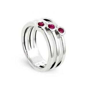 Rêve de diamants 3612030147814 - Bague en or ornée de rubis