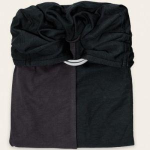 Je porte mon bébé Petite écharpe sans noeud gris anthracite et noir