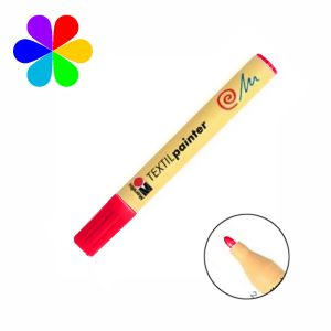 Marabu 011703031 - Marqueur pour tissu Textil Painter, cerise, pointe ogive 2-4 mm