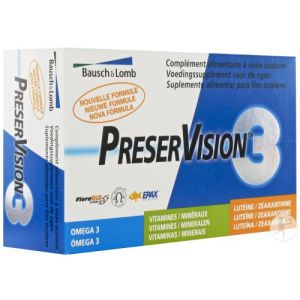 Bausch & Lomb Preservision 3 Capsules 60 Nouvelle Formule