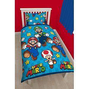 Character World Nintendo Mario - Housse de couette et taie (135 x 200 cm)