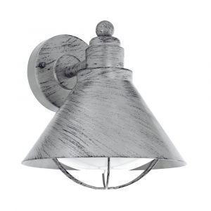 Eglo Applique extérieure rustique Barrosela H24 cm IP44 - Argent antique - Argent