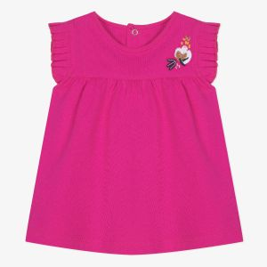 Catimini T-shirt à manches volants rose fuchsia Rose - Fille