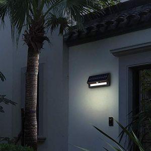 Lumihome Applique extérieur Solaire Wall-Light avec détecteur - Garantie 5 ans