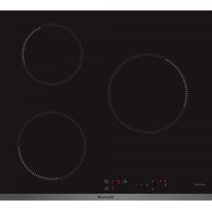 Brandt BPI6312B - Table de cuisson à induction 3 foyers