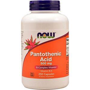 Now Foods Acide pantothénique 500 mg B5 Phanthotensäure - 250 capsules