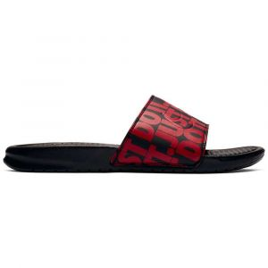 cheap for discount f3c3f 2a4a9 Nike Claquettes de bain Benassi « Just Do It » Print N uge   Noir -