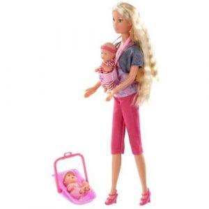 Simba Toys STEFFI LOVE - Poupée Enfant - Babysitter