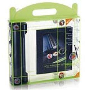 Lansa design 5041719 - Coffret appareil à sushis et makis avec livre