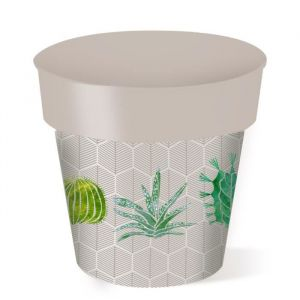 Cache-pot rond Cactus - 7 L - Ø 24 cm