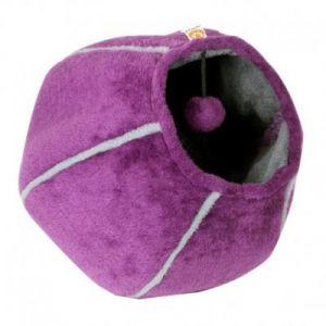 United Pets Corbeille grotte pour chat - Violet