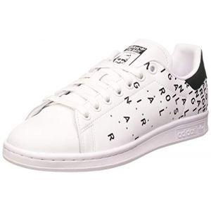 Adidas Stan Smith W, Basket Femme, FTWR White/FTWR White/Core Black, 44 EU